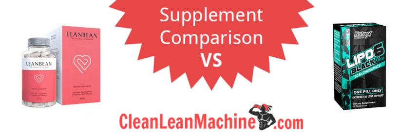 lean bean vs lipo 6 black hers ultra concentrate, lenbean, lipo 6 black hers, compare female fat burners